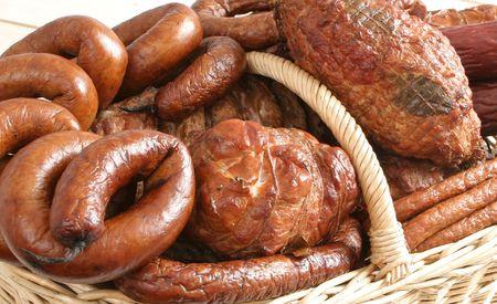 carnes: Salchichas y otros embutidos en la cesta