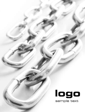 Three rows of chains with space for text in corner Stock Photo - 3669152
