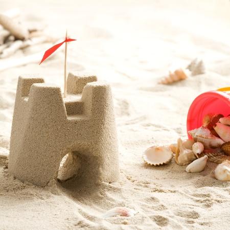Sand castle on the beach  Stock Photo - 13218722