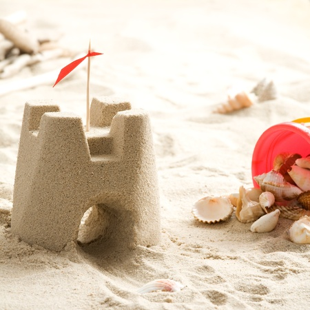 Sand castle on the beach Stock Photo - 13218722