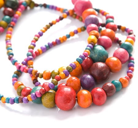 string of pearls: Coloful beads