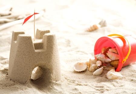 Sand castle on the beach Stock Photo - 13234965