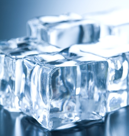 ambient light: Ice cubes in blue ambient light  Good for background