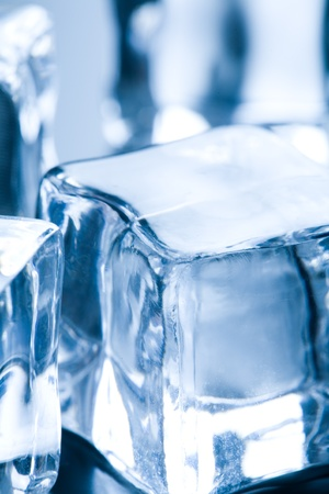 Ice cubes in blue ambient light  Good for background Stock Photo - 13237165