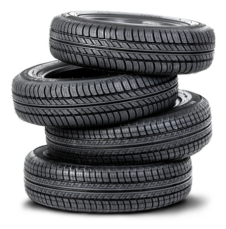 Stacked up tires photo