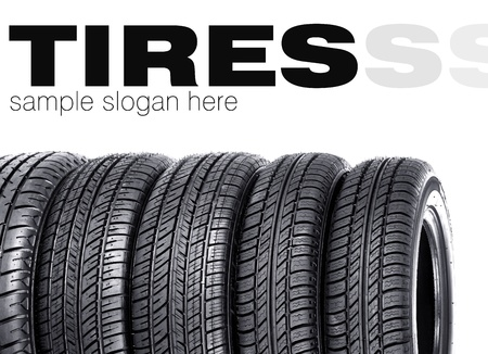 Car tires  Space for text Stock Photo - 13272120