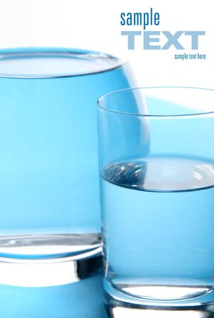 Glass filed with water  Space for text Stock Photo - 13307737