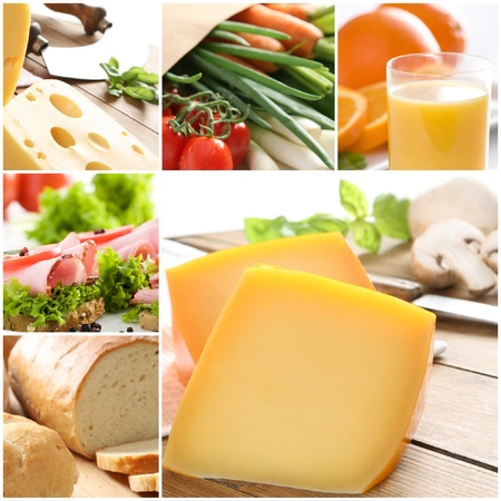 Healthy food - collage  Stock Photo