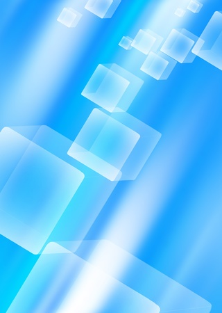 Abstract blue background with cubes Stock Photo - 13621320