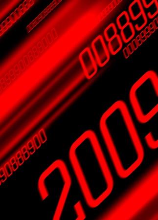 next year: digital red calendar