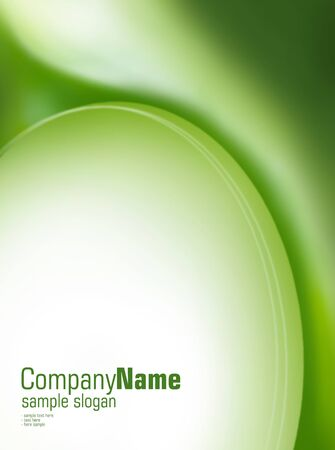 green swirl: Green oval  Space for text Stock Photo