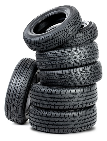 Tires isolated on the white background photo