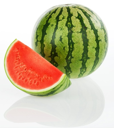Watermelon with reflection