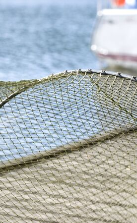 Fishing mesh background photo
