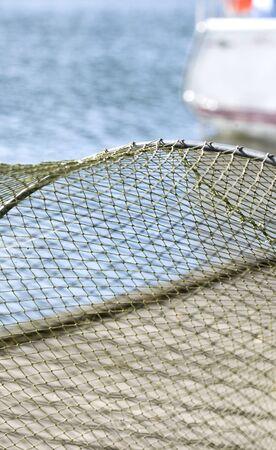 Fishing mesh background photo