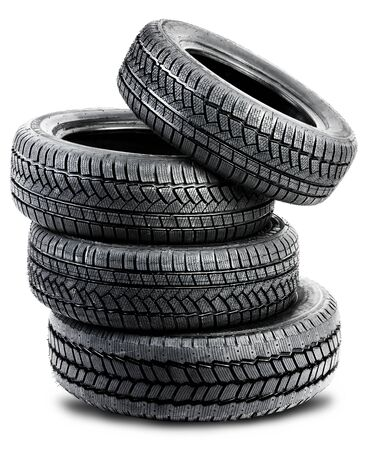 tires on white background - isolated photo