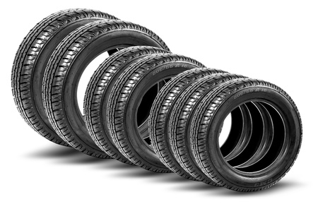 black car tires photo