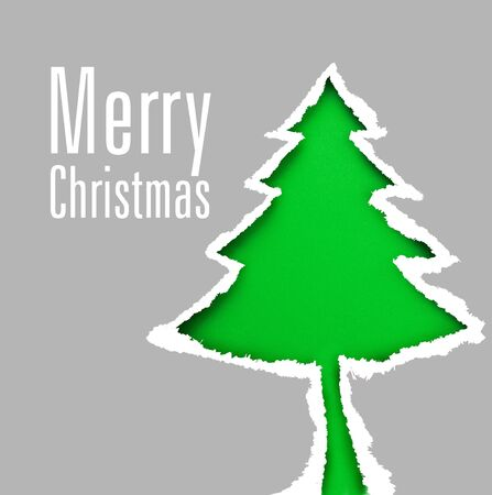 snippet: Green christmas tree  Space for text