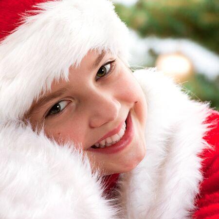 Happy young girl smiling  - portarait photo