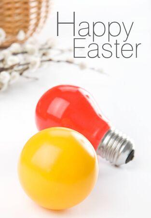 pretend: Colorful bulps pretend easter eggs