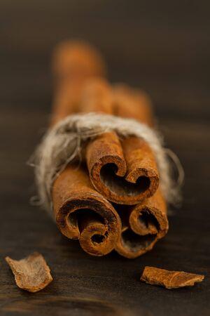 cinnamon sticks: Bunch of cinnamon sticks