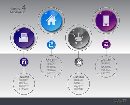 report icon: Vector illustration infographics set. Template for brochure, education, business, web design. Illustration
