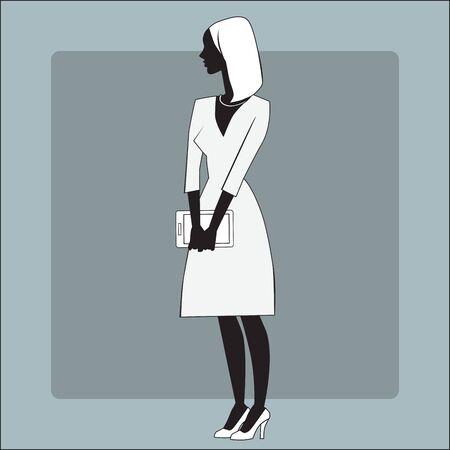 businesswomen: Businesswomen gadget office Illustration