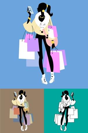 donna ricca: Chiamate Fashionista Shopaholic