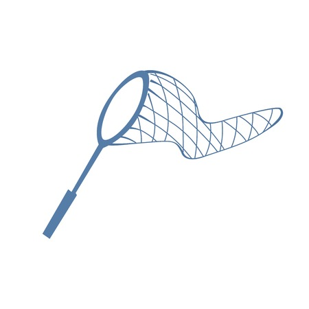 naturalist: Net for butterflies or fish on white background