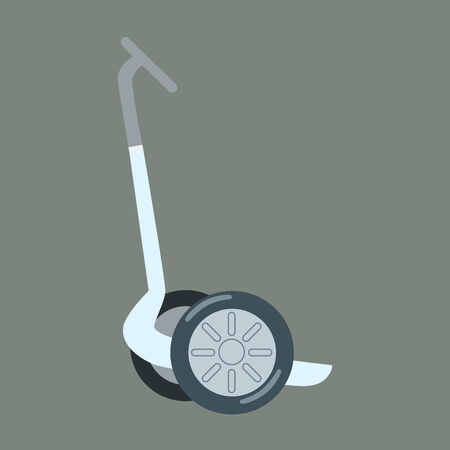 employ: Electric scooter for walking tourists on a neutral background