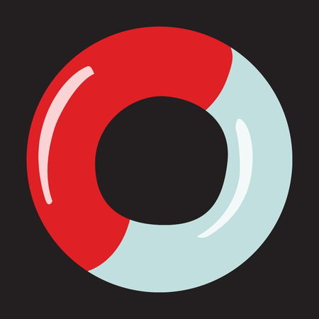 drowned: Icon rescue white red circle on a neutral background