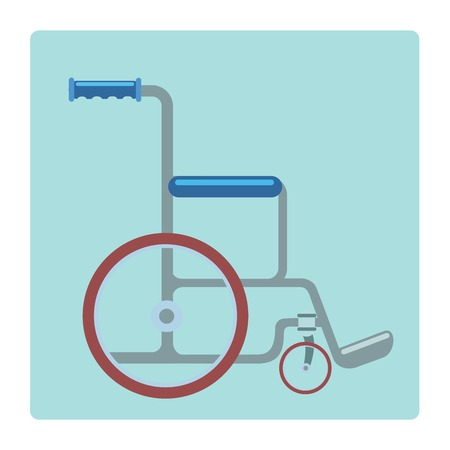 paralysis: Wheelchair medical gurney on a neutral background pictogram symbol of medicine and health Illustration