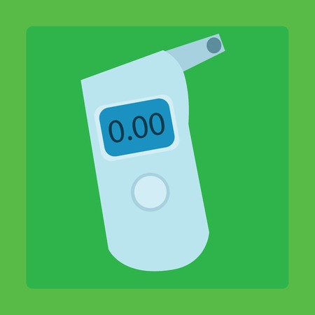 alcohol: The breathalyzer device for measuring the alcohol in the exhaled air drivers