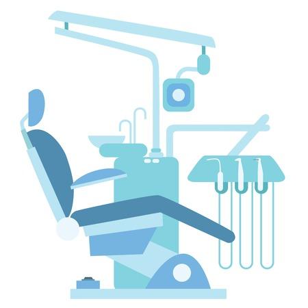 歯科医の診療所。医療の椅子、歯科治療、歯科医のドリル