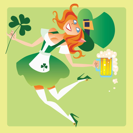 feast day: Girl elf on the feast day of St. Patrick
