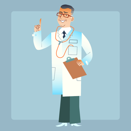 white coat: good doctor physician in a white coat
