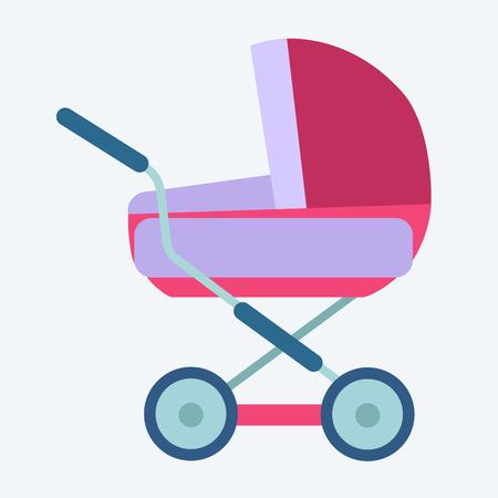 motherhood: baby carriage childhood and motherhood icon symbol icon