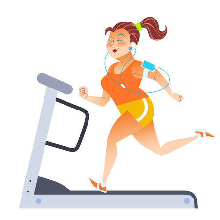 1,083 Woman Treadmill Stock Illustrations, Cliparts And Royalty ...