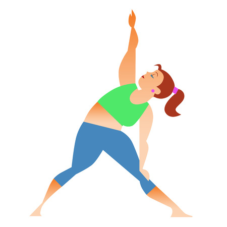 spiritual woman: Conventional bit thick woman does yoga. Health care and spiritual