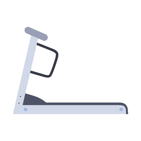 treadmill: Stationary treadmill on a neutral background. Athletic trainer Illustration