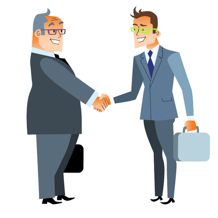 business deal: Business handshake deal. Finance and contract