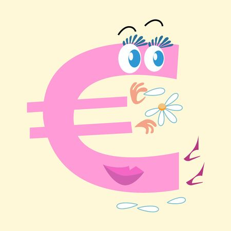 stockmarket: The Euro sign is the national currency of Europe. The character of the Euro sign is wondering on Daisy love him or not. Business and Finance. National currency
