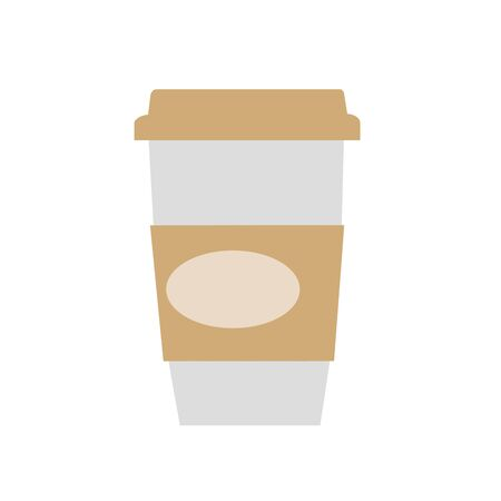 vigor: Coffee paper Cup of pastel colors with space for text. Cafeteria and restaurant