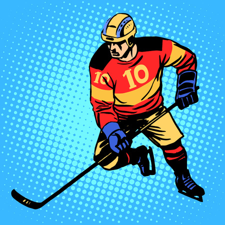 hockey: Hockey player number 10 professional ice sports competitions