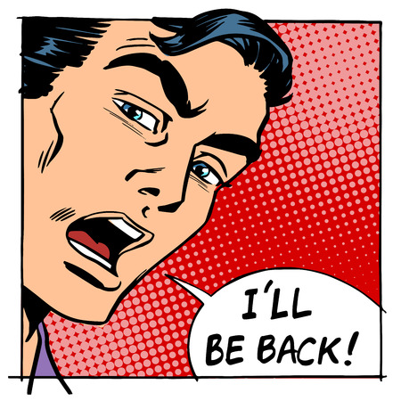 returning: I will be back male person protagonist