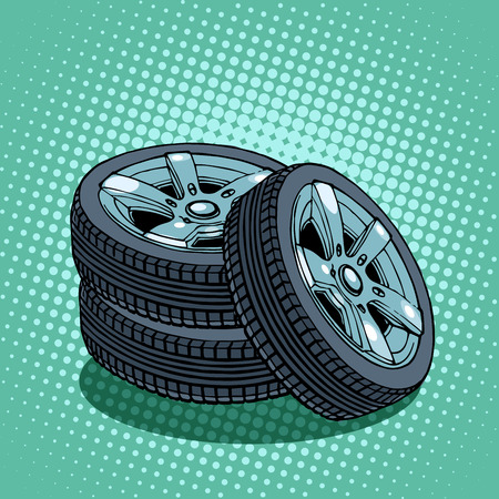 spare: spare wheels Illustration