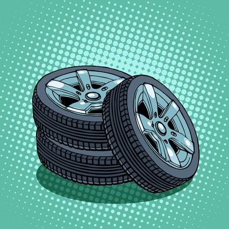 spare wheels Ilustração