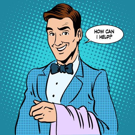 waiter: Illustrations of a waiter