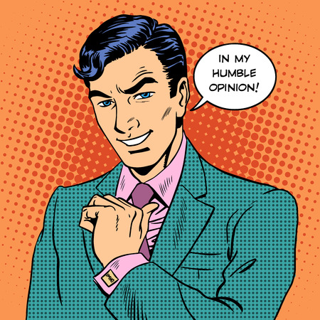 Retro style pop art of a businessman Ilustracja