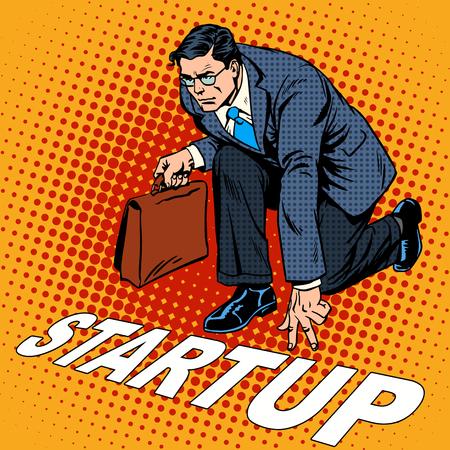 Business concetto imprenditore di start-up. Fondo venture o una società di avvio. pop art stile retrò Archivio Fotografico - 45630589